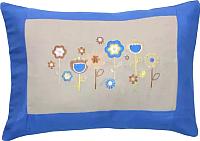 Подушка декоративная MATEX Цветы / 02-475 (голубой) -