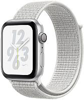 Умные часы Apple Watch Series 4 Nike+ 40mm / MU7F2 (алюминий серебристый/снежная вершина) -