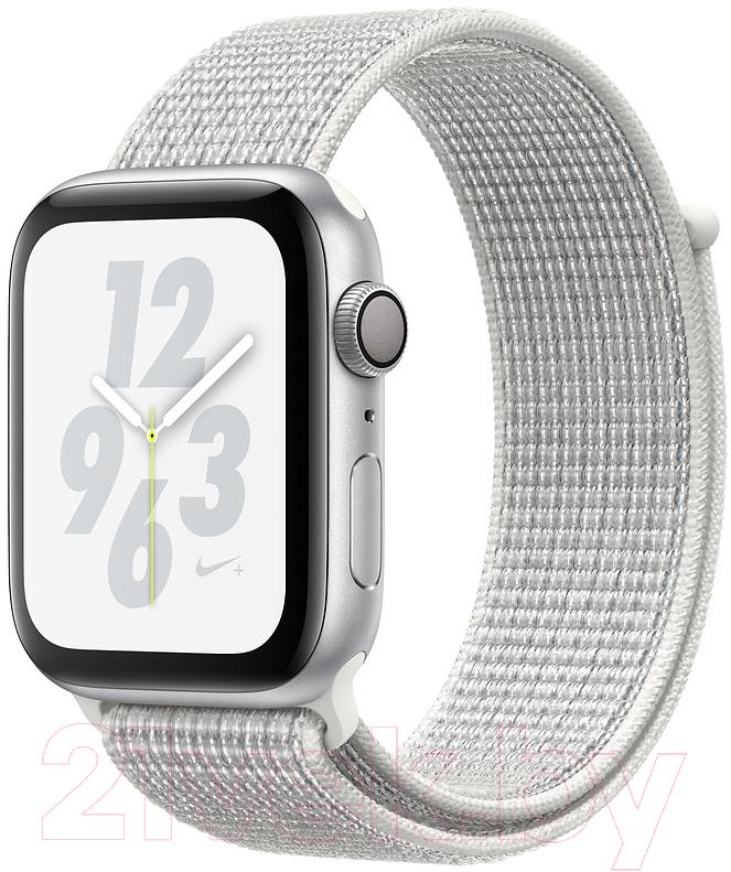 Купить Умные часы Apple, Watch Series 4 Nike+ 40mm / MU7F2 (алюминий серебристый/снежная вершина), Китай