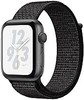 Умные часы Apple Watch Series 4 Nike+ 44mm / MU7J2 (алюминий серый космос/черный) -