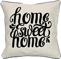 Подушка декоративная MATEX Sweet Home / 00-167 (белый/черный/черный) -