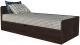Односпальная кровать Интерлиния Анеси-3 (дуб венге) -