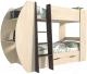 Двухъярусная кровать детская Интерлиния Анеси-2 (дуб венге/дуб молочный) -