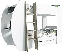 Двухъярусная кровать детская Интерлиния Анеси-2 (дуб сонома/белый) -