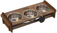Набор мисок для животных Чешир Обжора / 375-36 (3 миски, коричневый) -