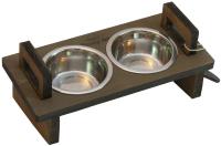 Набор мисок для животных Чешир Царь / 375-48 (2 миски, коричневый) -