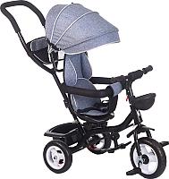 Детский велосипед с ручкой Babyhit Kids Ride (серый) -