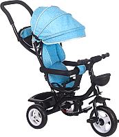 Детский велосипед с ручкой Babyhit Kids Ride (голубой) -
