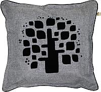 Подушка декоративная MATEX Фьюжн. Древо / 04-615 (серый) -
