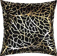 Подушка декоративная MATEX Luxury Фактура / 13-815 (золото/черный) -