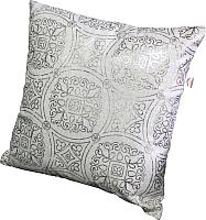 Подушка декоративная MATEX Luxury Махенди / 15-314 (золото/светло-серый) -