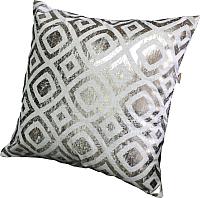 Подушка декоративная MATEX Luxury Гипноз / 15-338 (золото/светло-серый) -