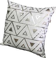 Подушка декоративная MATEX Треугольники гипноз / 15-383 (золото/светло-серый) -