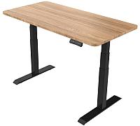 Письменный стол Smartstol 160x80x3.6 (черный/бук) -