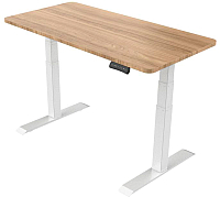 Письменный стол Smartstol 120x80x3.6 (белый/бук) -