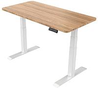 Письменный стол Smartstol 160x80x3.6 (белый/бук) -
