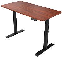 Письменный стол Smartstol 120x80x3.6 (черный/яблоня локарно) -