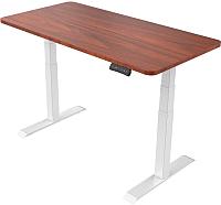 Письменный стол Smartstol 120x80x3.6 (белый/яблоня локарно) -