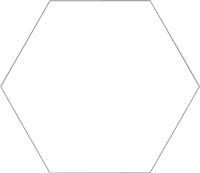 Плитка Codicer Gres Basic White Hex (250x220) -