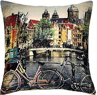 Подушка декоративная MATEX Travel Велосипеды / 08-651 (зеленый) -