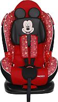 Автокресло Siger Disney Кокон Isofix Микки Маус (звезды/красный) -