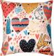 Подушка декоративная MATEX Fantasy Зайчики и сердечки светлые / 08-729 (розовый/молочный) -