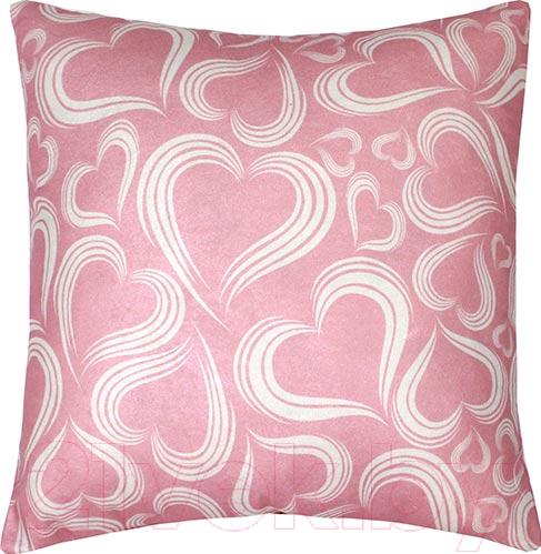 Купить Подушка декоративная MATEX, Fantasy Розовые сердца / 08-842 (розовый/молочный), Беларусь