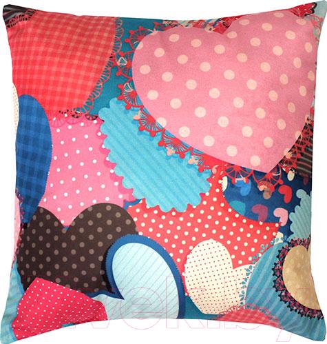 Купить Подушка декоративная MATEX, Fantasy Ванильные сердца / 08-873 (розовый/голубой), Беларусь