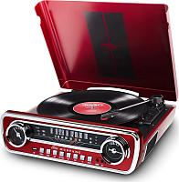 Проигрыватель виниловых пластинок iON Mustang LP (с радио, красный) -