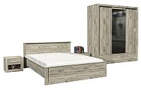 Комплект мебели для спальни Интерлиния Лима-3 (без основания,дуб серый) -