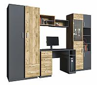 Комплект мебели для жилой комнаты Интерлиния Split-3 (дуб корабельный золотой/графит) -