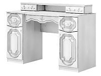 Туалетный столик Мебель-Неман Орхидея СП-002-09Д2 (белый полуглянец) -