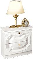 Прикроватная тумба Мебель-Неман Орхидея СП-002-16Д2 (белый полуглянец) -