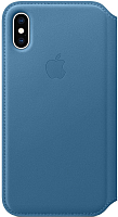 Чехол-книжка Apple Leather Folio для iPhone XS Cape Cod Blue / MRX02 -