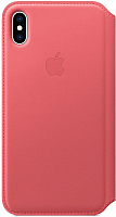 Чехол-книжка Apple Leather Folio для iPhone XS Max Peony Pink / MRX62 -