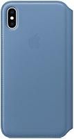 Чехол-книжка Apple Leather Folio для iPhone XS Max Cornflower / MVFT2 -