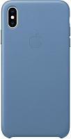 Чехол-накладка Apple Leather Case для iPhone XS Max Cornflower / MVFX2 -