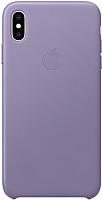 Чехол-накладка Apple Leather Case для iPhone XS Max Lilac / MVH02 -