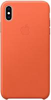 Чехол-накладка Apple Leather Case для iPhone XS Max Sunset / MVFY2 -