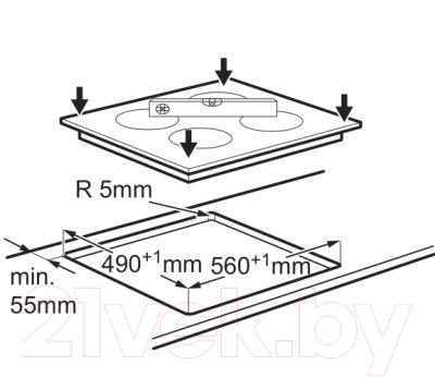 Индукционная варочная панель Electrolux EHH56240IK