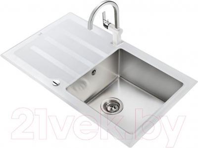 Мойка кухонная Teka Lux 1C 1E / 12129012 (белый) - общий вид
