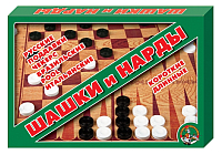 Набор настольных игр Десятое королевство Шашки и нарды большие / 1069 -