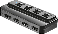 USB-хаб Trust 4 Port USB 2.0 Hub with switches / 20619 -
