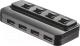 USB-хаб Trust 4 Port USB 2.0 Hub with switches / 20619 -