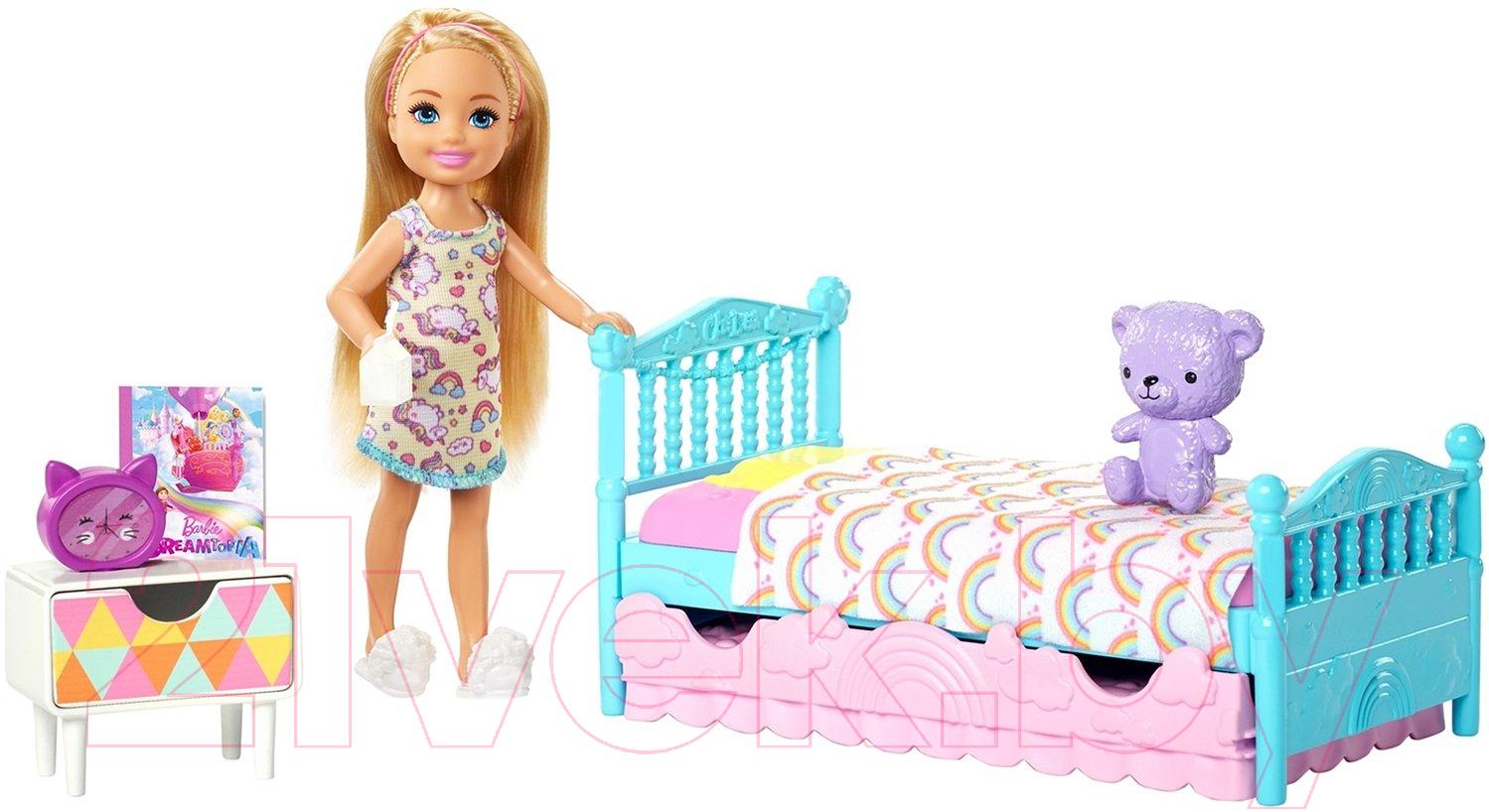 Купить Кукла с аксессуарами Barbie, Челси и зверушка / FDB32/FXG83, Китай, пластик