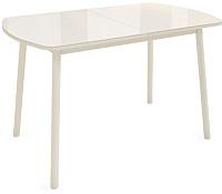 Обеденный стол Listvig Винер Mini 940-1260x64 (кремовый) -