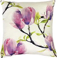 Подушка декоративная MATEX Fantasy Сиреневые цветы / 09-238 (сиреневый/молочный) -