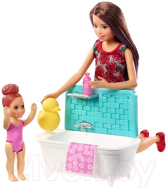 Купить Кукла с аксессуарами Barbie, Няня / FHY97/FXH05, Китай, пластик
