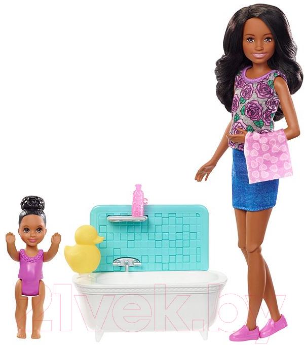 Купить Кукла с аксессуарами Barbie, Няня / FHY97/FXH06, Китай, пластик