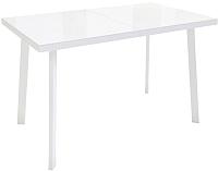 Обеденный стол Listvig Фин 120-152x70 (белый) -